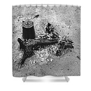 Camp Fire Fall Cattle Round-up Tohono O'odham Indian Reservation Near Sells Arizona 1969 Shower Curtain