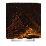 Camp Fire Shower Curtain
