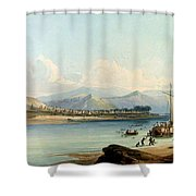 Camp Of The Gros Ventres Of The Prairies Shower Curtain