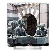 Campari Grave Marker Detail IIi Disciples Last Supper Shower Curtain