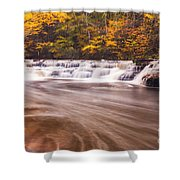 Campbell Falls In Autumn Shower Curtain