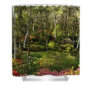 Campbell Rhododendron Gardens 2am 6831-6832 Panorama Shower Curtain