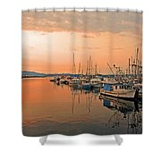 Campbell River Marina Shower Curtain