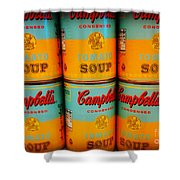 Campbell's Soup Retro Andy Warhol Shower Curtain