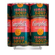 Campbell's Tomato Soup Pop Art Shower Curtain