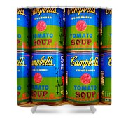 Campbell's Tomato Soup Retro Andy Warhol Shower Curtain