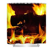 Campfire Burning Shower Curtain