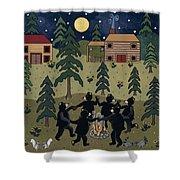 Campfire Dance Shower Curtain