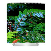 Campground Foliage Shower Curtain