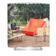 Campgrounds Usa Shower Curtain
