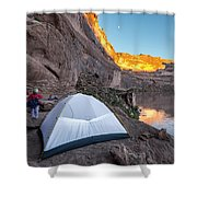 Camping Along The Labyrinth Canyon Shower Curtain