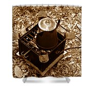 Camping Coffee Shower Curtain