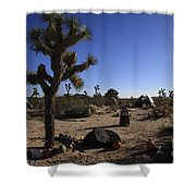 Camping In The Desert Shower Curtain