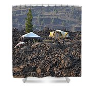Camping On The Moon Shower Curtain