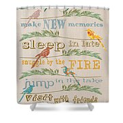 Camping Rules-c Shower Curtain