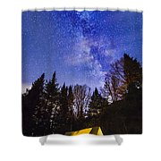 Camping Under The Milky Way Shower Curtain