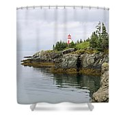 Campobello Island -  East Quoddy Lightstation Shower Curtain