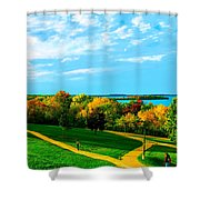 Campus Fall Colors Shower Curtain