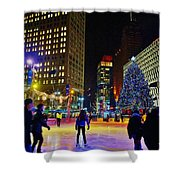 Campus Marcus Winter Night  Shower Curtain