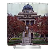 Campus Of Texas Am Shower Curtain