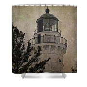 Cana Island Light Shower Curtain
