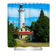 Cana Island Wi Lighthouse Shower Curtain