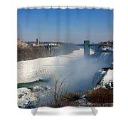 Canada And America At Niagara Falls Shower Curtain