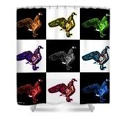 Canada Goose Pop Art - 7585 - V1 - M Shower Curtain