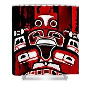 Canada - Inuit Village Totem Shower Curtain