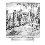 Canada: Loyalists, 1784 Shower Curtain
