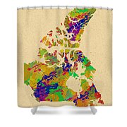 Canada Watercolor  Shower Curtain