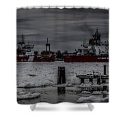 Canadian And United States Icebreakers Shower Curtain
