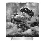 Canadian Coastal Mountains - Tantalus Mountains Shower Curtain