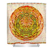 Canadian Fall Colors Conversion Into Chakra Wheel Deco Enery Mandala Shower Curtain