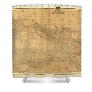 Canadian Mounted Police Map Shower Curtain