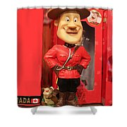 Canadian Mountie Shower Curtain