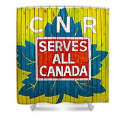 Canadian National Railway Stamp Shower Curtain