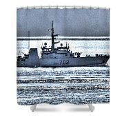 Canadian Navy Nanaimo M M702 Shower Curtain