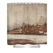 Canadian Pacific In Banff  Shower Curtain