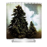 Canadian Pines Shower Curtain