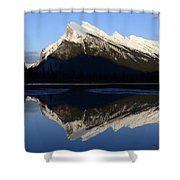 Canadian Rockies Mount Rundle 1 Shower Curtain