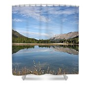 Canadian Rocky Mountains With Lake  Shower Curtain
