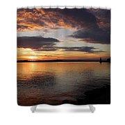 Canadian Sunset Shower Curtain