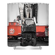 Canadian Totem And Railway Shower Curtain