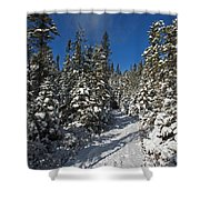 Canadian Winter Wonderland.. Shower Curtain