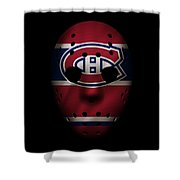 Canadiens Jersey Mask Shower Curtain
