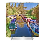 Canal Barges Shower Curtain