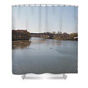 Canal Crossing Shower Curtain