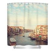 Canal Grande In Venezia Shower Curtain
