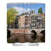 Canal Houses In Amsterdam Shower Curtain